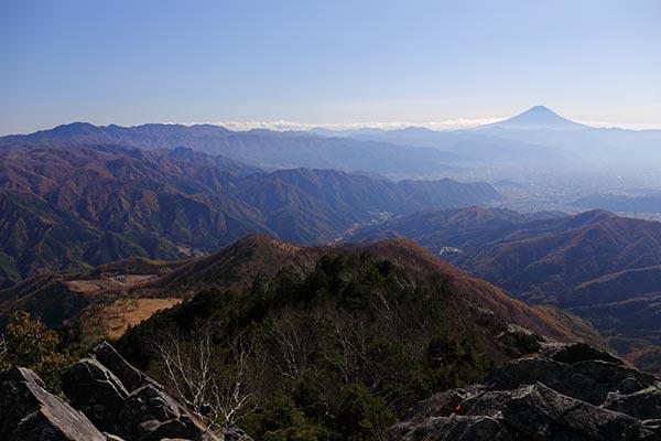 乾徳山からの眺め