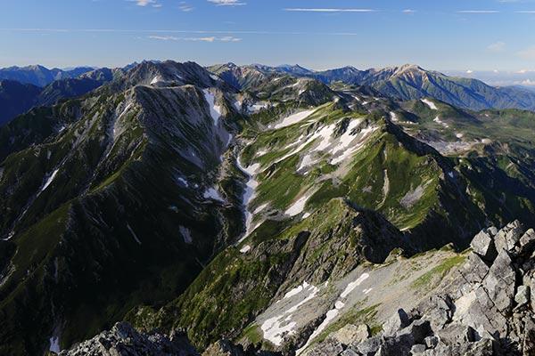 剱岳からの眺め