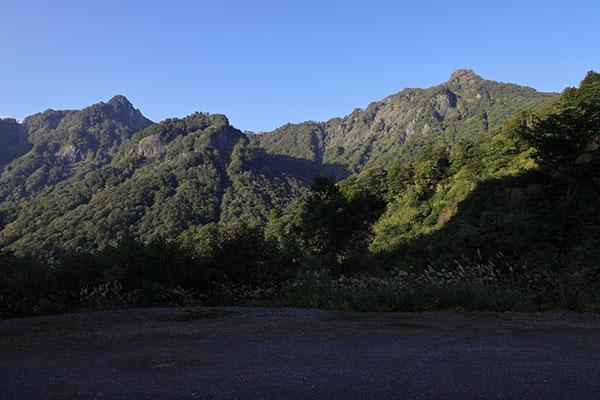 鬼ヶ面山~鋸岳